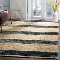 Safavieh Hand-knotted Bohemian Natural/ Blue Wool Rug - 9' x 12'
