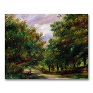 Pierre Renoir 'The Road near Cagnes' Canvas Art - Multi