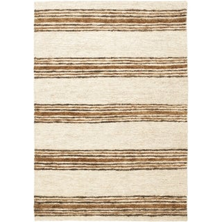 Safavieh Hand-knotted Bohemian Natural/ Rust Wool Rug (9' x 12')