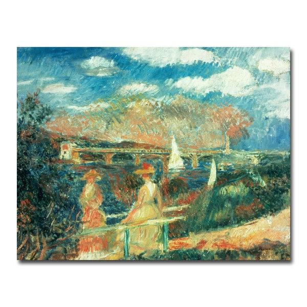 Pierre Renoir 'Banks of the Seine at Argenteuil' Canvas Art