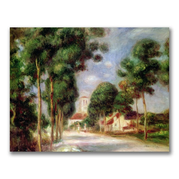 Pierre Renoir 'The Road to Essoyes' Canvas Art