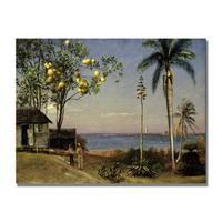 Albert Bierstadt 'Tropical Scene' Canvas Art - Multi