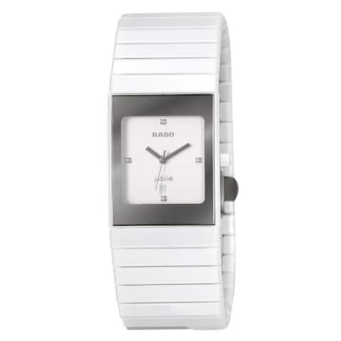 Rado Women's R21982702 'Ceramica' Diamond White Ceramic Watch
