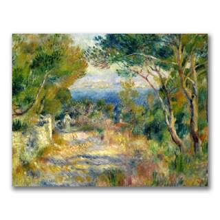 Pierre Renoir 'L'Estaque 1882' Canvas Art