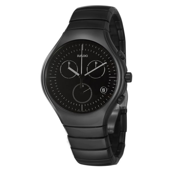855eb126813 Shop Rado Men s  Rado True  Black Ceramic Swiss Quartz Chronograph Watch -  Free Shipping Today - Overstock - 8049387