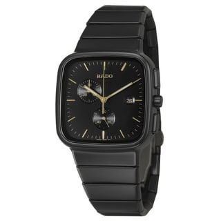 Rado Men's 'R5.5' Black Water-Resistant Ceramic Swiss Quartz Watch
