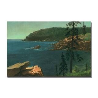 Albert Bierstadt 'California Coast II' Canvas Art - Multi