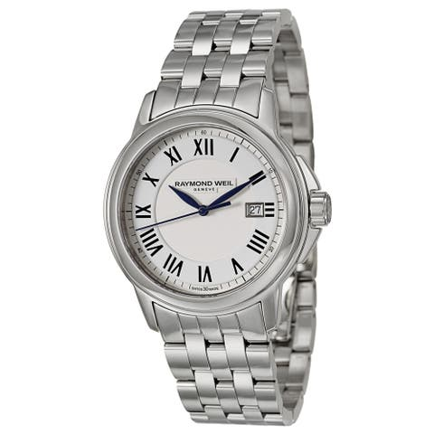 Raymond Weil Men's 'Tradition' Stainless Steel Swiss Quartz Watch - Silver