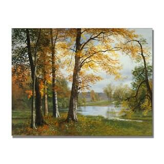Albert Bierstadt 'A Quiet Lake' Canvas Art