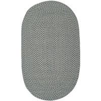 Safavieh Reversible Braided Multi Cotton Rug - 6' x 9' Oval