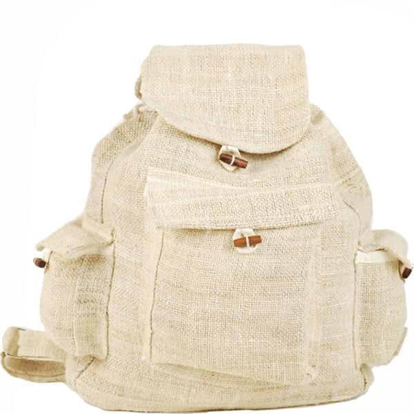 Classic Natural Hemp Backpack (Nepal)