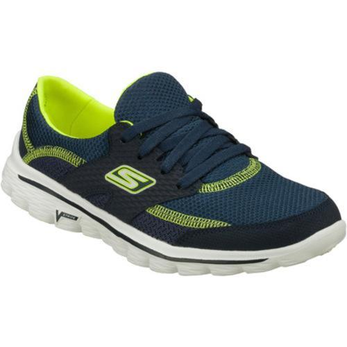 check out 42063 148a8 Shop Women s Skechers GOwalk 2 Stance Navy Lime - Free Shipping Today -  Overstock - 8049869