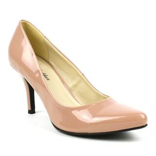 Mark & Maddux Women's 'Jim-01' Nude Patent Pointed-toe Heels