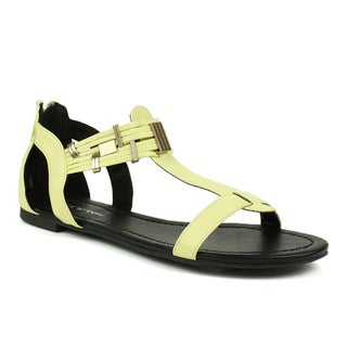 Mark & Maddux Women's 'Tyson-06' Beige Metal Accent Sandals