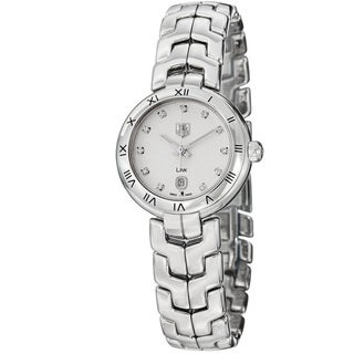 Link to Tag Heuer Women's 'Link' Silver Dial Stainless Steel Quartz Watch Similar Items in Women's Watches