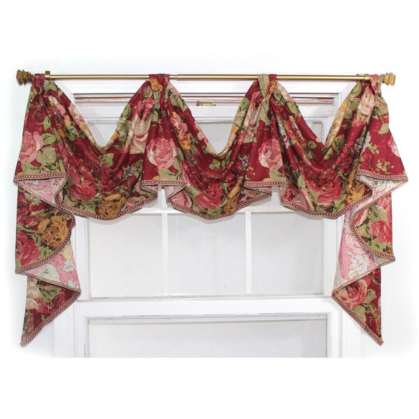 Shop Delora Rouge 3 Scoop Victory Swag Valance Free