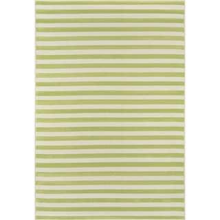 Momeni Baja Stripe Green Indoor/Outdoor Area Rug  (2'3 x 4'6)