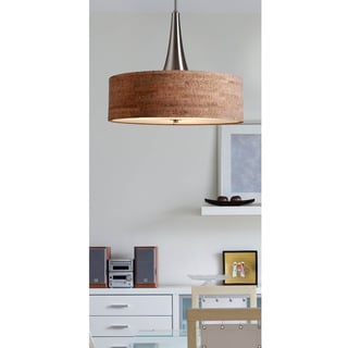 Bachman 22-inch Brushed Nickel/ Cork Pendant