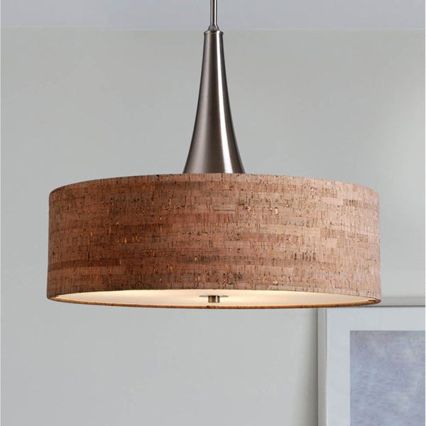 Design Craft Bachman 22 Inch Brushed Nickel Cork Pendant Free Shipping Today 15409173