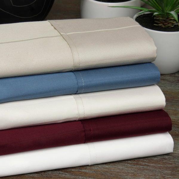 Pin Stripe 620 Thread Count Eqyptian Cotton Sateen Sheet Set