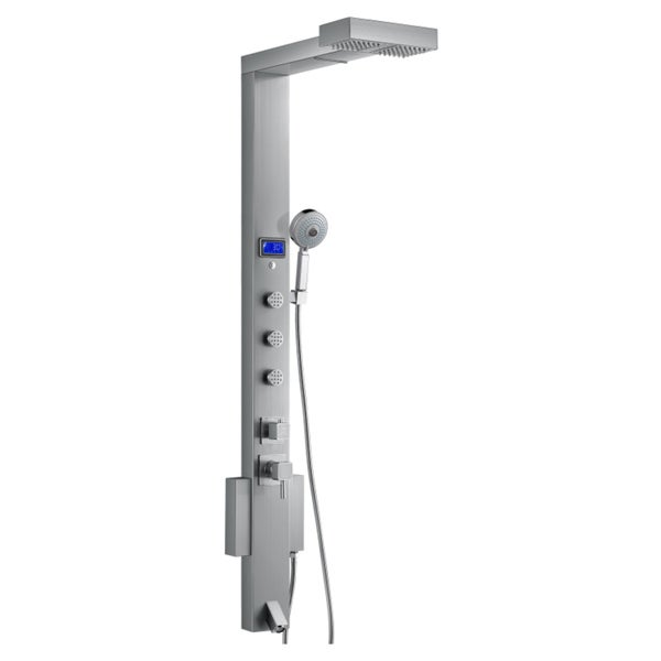 Awesome Blue Ocean 59 Inch Stainless Steel Shower Panel Tower With Rainfall  Showerhead