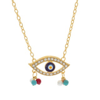 NEXTE Jewelry Goldtone GuardianEye Fashion Necklace