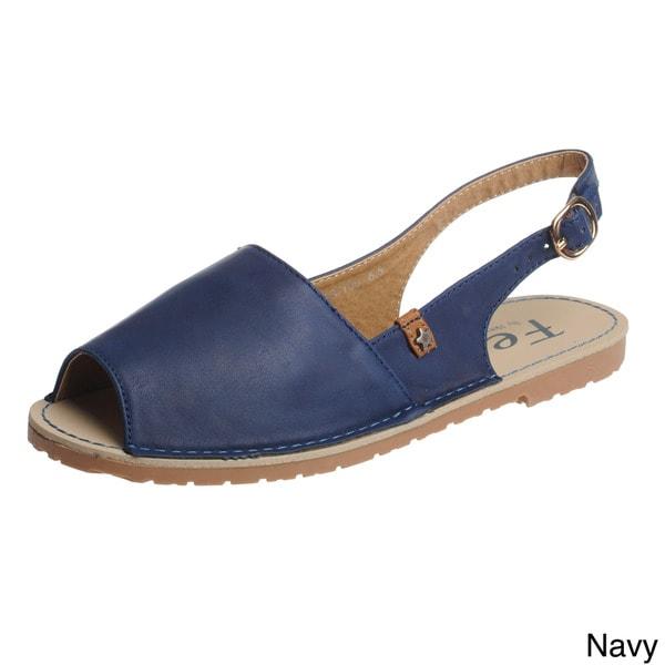 Shop Henry Ferrera Women S Slingback Flat Sandals