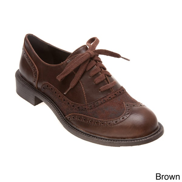 Brown Wingtip Shoes Womens