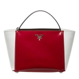 Prada 'Spazzolato' Colorblock Bucket Bag