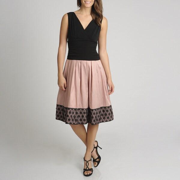 S.L. Fashions Women's Lace Border Party Dress