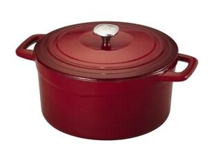Guy Ferri Red Cast Iron 7-quart Dutch Oven