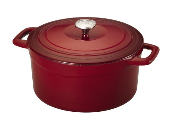 Guy Ferri Red Cast Iron 7-quart Dutch Oven