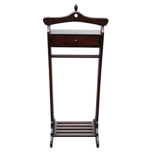 Office Accents Mahogany Royal Valet Coat Hanger Rack Stand