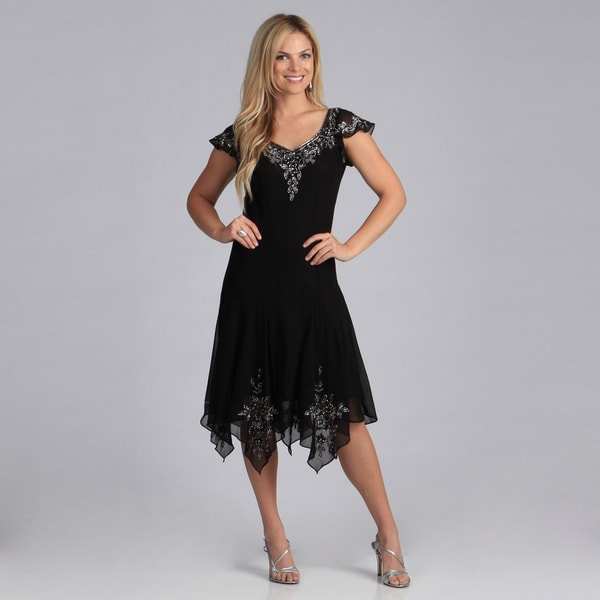 Popular Trendy And Stylish Dresses Handkerchief Hem Maxi Dresses