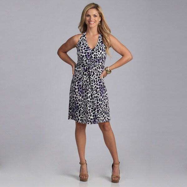 Talia Women's Animal Print Halter Dress