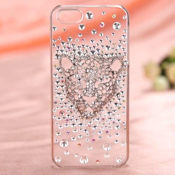 BasAcc White Leopard 3D Diamante Case For Apple® iPhone 5