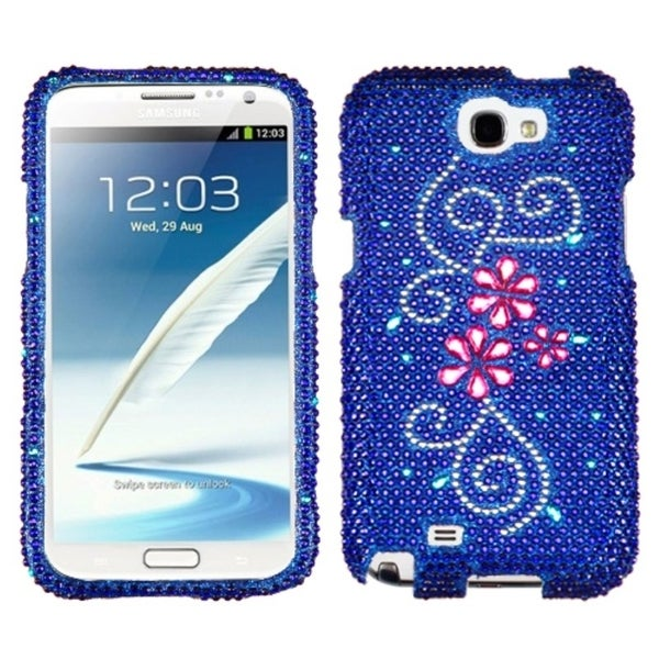 INSTEN Juicy Flower Diamante Protector Phone Case Cover for Samsung Galaxy Note 2