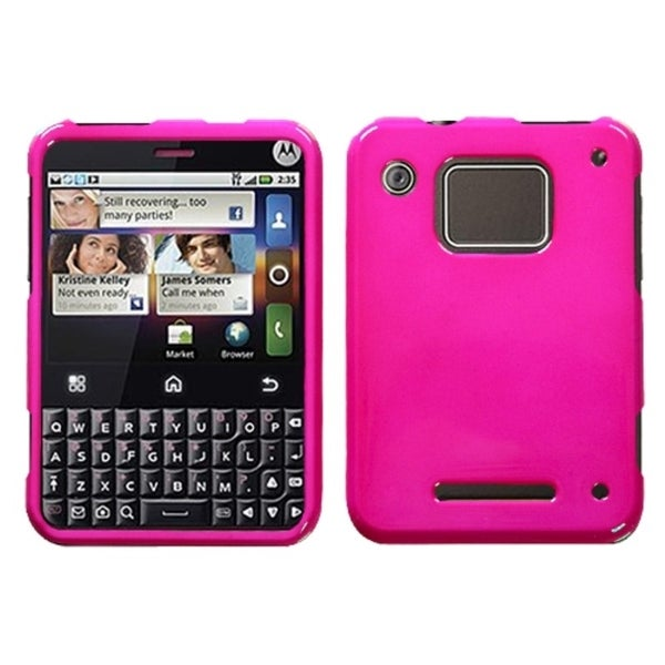 INSTEN Solid Shocking Pink Phone Case Cover for Motorola MB502 Charm