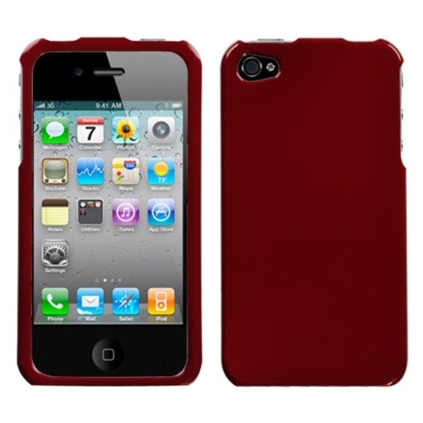 INSTEN Solid Red Phone Case Cover for Apple iPhone 4S/ 4