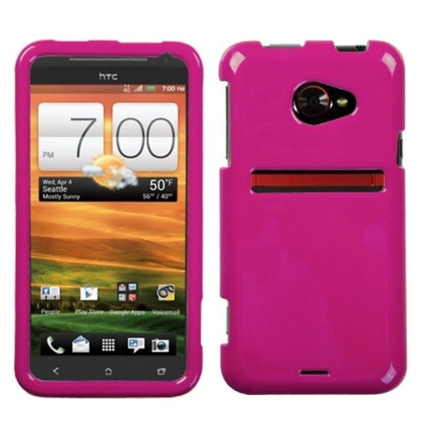 INSTEN Solid Hot Pink Phone Case Cover for HTC EVO 4G LTE - Free ...