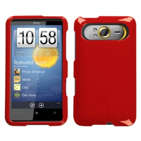 INSTEN Solid Flaming Red Phone Case Cover for HTC HD7/ HD7S