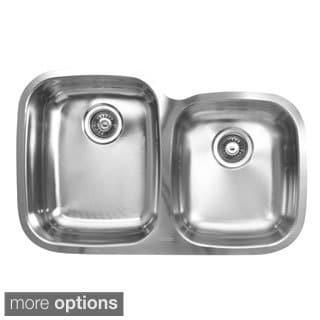 Ukinox D376.60.40.10L 60/40 Double Basin Stainless Steel Undermount Kitchen Sink