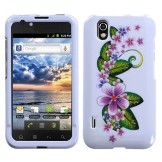 INSTEN Purple Small Flowers Phone Case Cover for LG LS855 Marquee