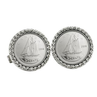Canada 'Ship Coin' Cuff Links