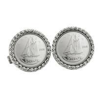 Canada 'Ship Coin' Cuff Links