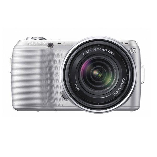 Sony Alpha NEX-C3 16.2MP White Digital Camera with 18-55mm Lens