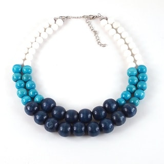 Pretty Little Style White Jade Statement Necklace