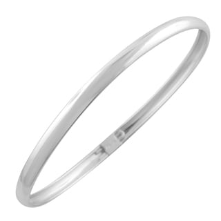 Fremada Silver-filled 5-mm Polished Bangle