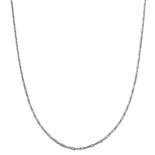 Fremada 14k White Gold Small Link Chain (3 options available)
