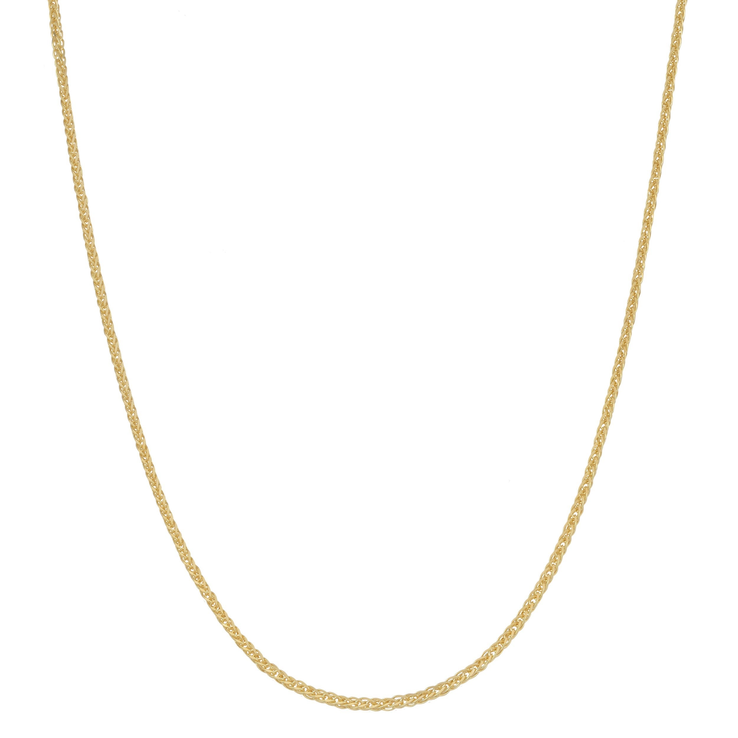 14Kt Gold Square Wheat Chain Square Wheat Chain 16 Inches Long